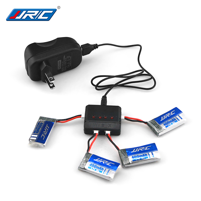 4pcs 3.7V JJRC H31 400mAh 3.7V 30C Lipo Battery and 4in1 Battery charger box for JJRC H31 RC Quadcopter Drone jjrc h31 rc quadcopter transmitter