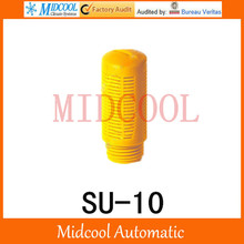 Plastic silencer muffler SU-10 thread 3/8″ SU type plastic timing muffler air connector pneumatic Orange