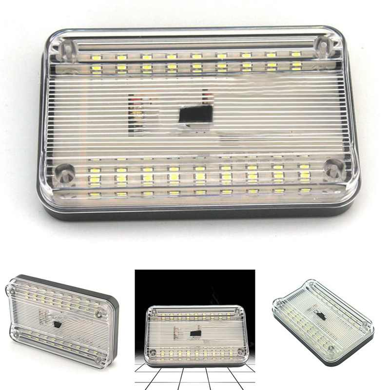 36 SMD Car Dome LED Light Ceiling Interior Rectangular Auto White Ceiling Lamp for 12V Cars