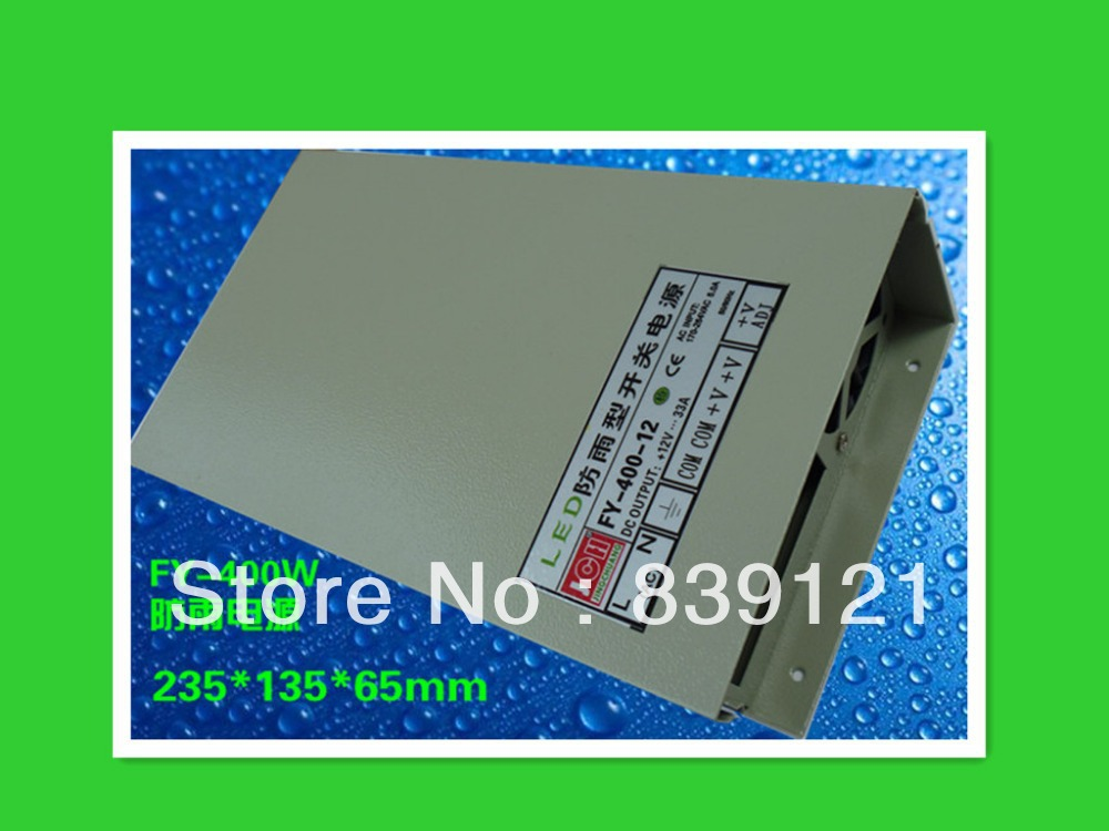 Waterproof waterproof switching power supply switching power supply 400w 12V 33A LED 220v to 12v 400w 33a switching power supply dc power adapter monitor power supply
