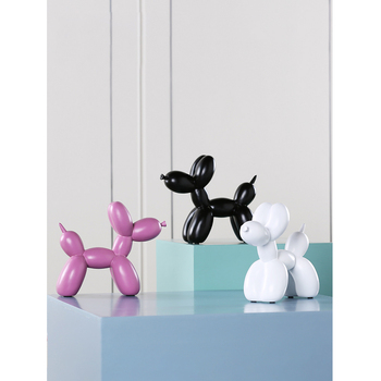 Creative balloon dog ornaments home decoration Crafts Resin Animal fairy garden miniature figurines living room accessories