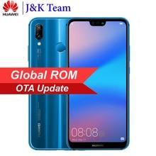 Huawei P20 Lite Küresel Firmware Nova 3e 4G LTE Mobilephone Yüz KIMLIĞI 5.84