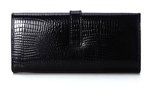 Crocodile Leather Slim Wallet - Carteira Feminina 3