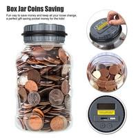 Electronic Liquid Crystal Computer LCD Display Safe Digital Counting Coin Bank Money Saving Box Jar Bank