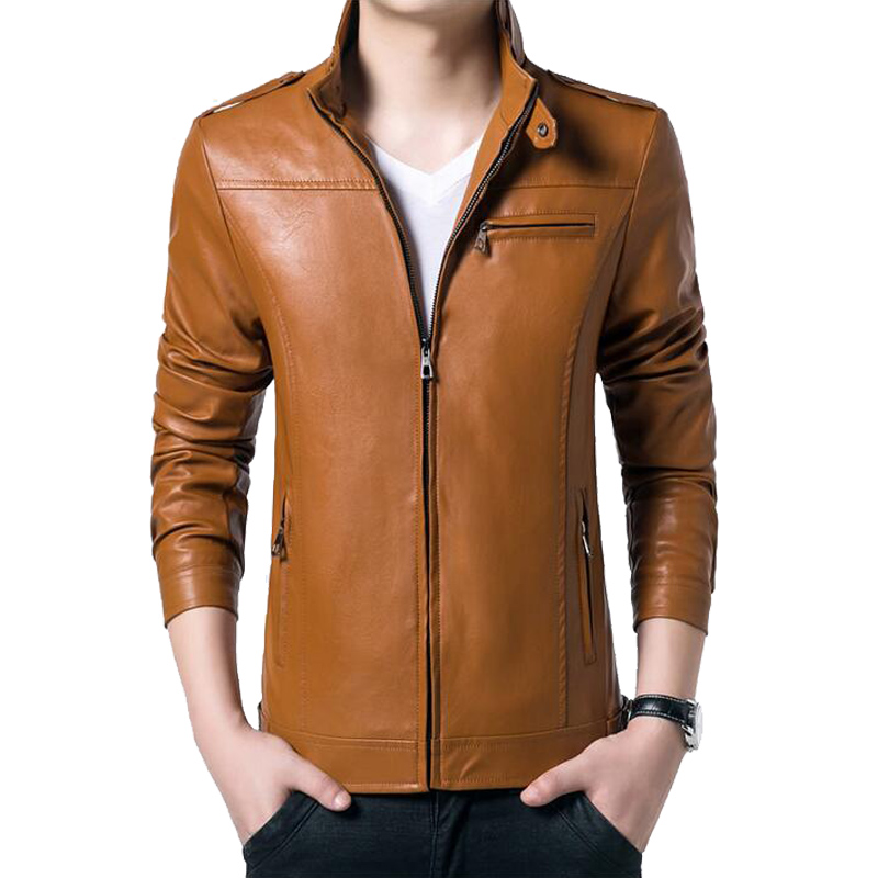 Hot Sale Autumn Winter Mens Leather Jackets And Coats Fashion Casual Slim Fit Motorcycle Jacket Chaqueta Size M-5XL