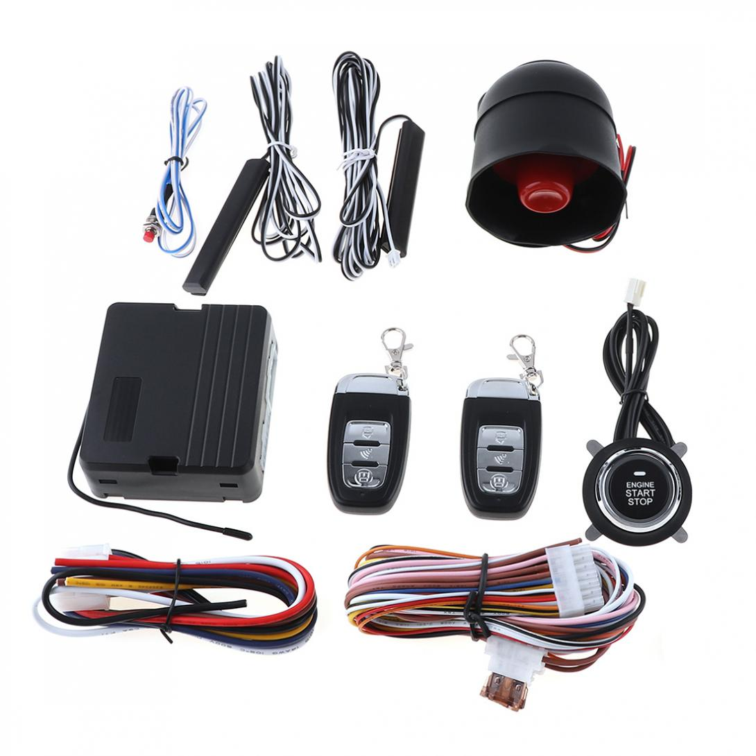 PKE Vehicle Car Smart Security Alarm Remote Start Stop Button Engine System Keyless Entry Auto Central Lock Initiating System car auto engine start stop button smart key alarm security keyless entry lock or unlock by passwords pke auto central lock car