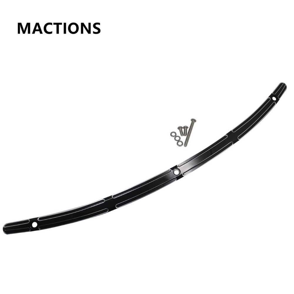 Motorcycle Black Aluminum Slot Track Windshield Trim For