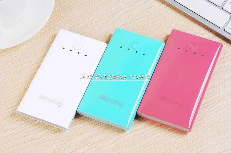 Original iMoving 12000mAh Bank Portable Charger bank Battery for Phone Tablet Silver