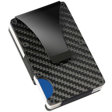 Credit Card Holder Carbon Fiber/Aluminium Alloy RFID Non-scan Metal Wallet  Purse BS88(China)
