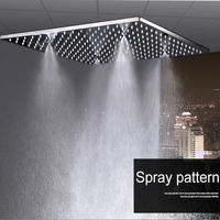 Luxury Rain Shower System Modern Shower Faucets 20 Inch Rain And Mist Massage Shower Panel Thermostatic Led Shower Set / Mixer