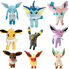 Anime 9pcs Plush Toy Eevee Vaporeon Jolteon Flareon Espeon Umbreon Leafeon Glaceon Sylveon Dolls Soft Stuffed Animal toy for Kid 9 styles 20 30 cm plush hot toys mimikyu cosplay sylveon umbreon eevee espeon vaporeon flareon leafeon stuffed animal soft dolls
