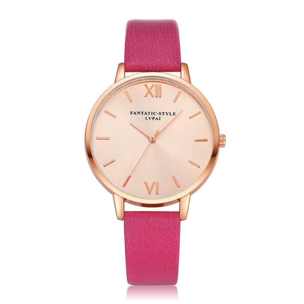 יוקרה מותג זהב נשים אופנה שמלת קוורץ שעון שעון שעוני יד צמיד שעון עור באיכות גבוהה ליידי קוורץ שעון P40