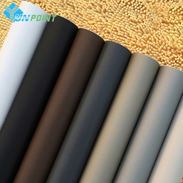 60cm*3M Solid Matt Vinyl self adhesive Wallpaper DIY Waterproof Wall Stickers Home Decor Films Living Room Kitchen Door Poster