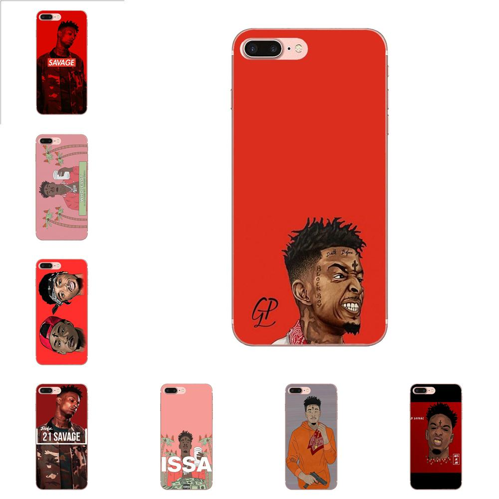 <font><b>21</b></font> <font><b>Savage</b></font> Slaughter Tape For Apple <font><b>iPhone</b></font> X XS Max XR 4 4S 5 5C 5S SE 6 6S 7 8 Plus High Quality Multi Colors image