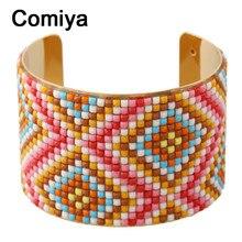 Colores amplia acrílico brazalete abierto para las mujeres boho étnico pulseira masculina moda de color oro dama brazaletes pulseira feminina