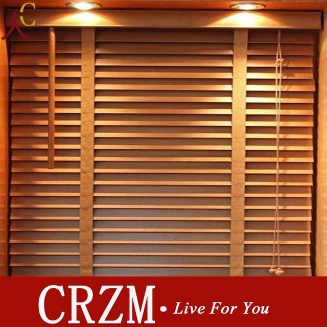 madera venecianas persiana cortina persianas de madera transpirable cortina de producto terminado y hecho a medida - Persianas De Madera