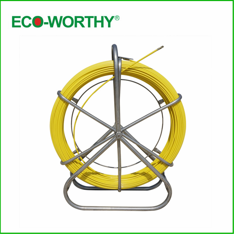 Fish Tape Electric Reel Wire Cable Running Rod Duct Rodder Fishtape Puller 6mm used for Telecom,  Wall and Floor Conduit free shipping 1pc lot good quality wt 1 pvc pipe and cable wire duct cutters knife suit for 50mm width pvc wire duct