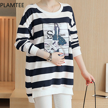 PLAMTEE Nursing Tops Printed Breastfeeding Blouses Maternity Clothing Pregnant Women T Shirts New Long Sleeves Pregnancy Clothes