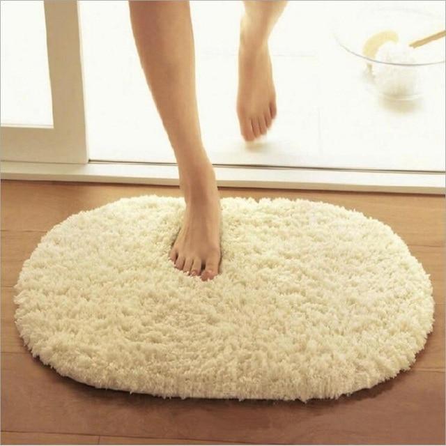 40x60cm Bathroom Carpets Absorbent Soft Memory Foam Doormat Floor Rugs Oval Non slip Bath Mats Plain Rug tapete banheiro