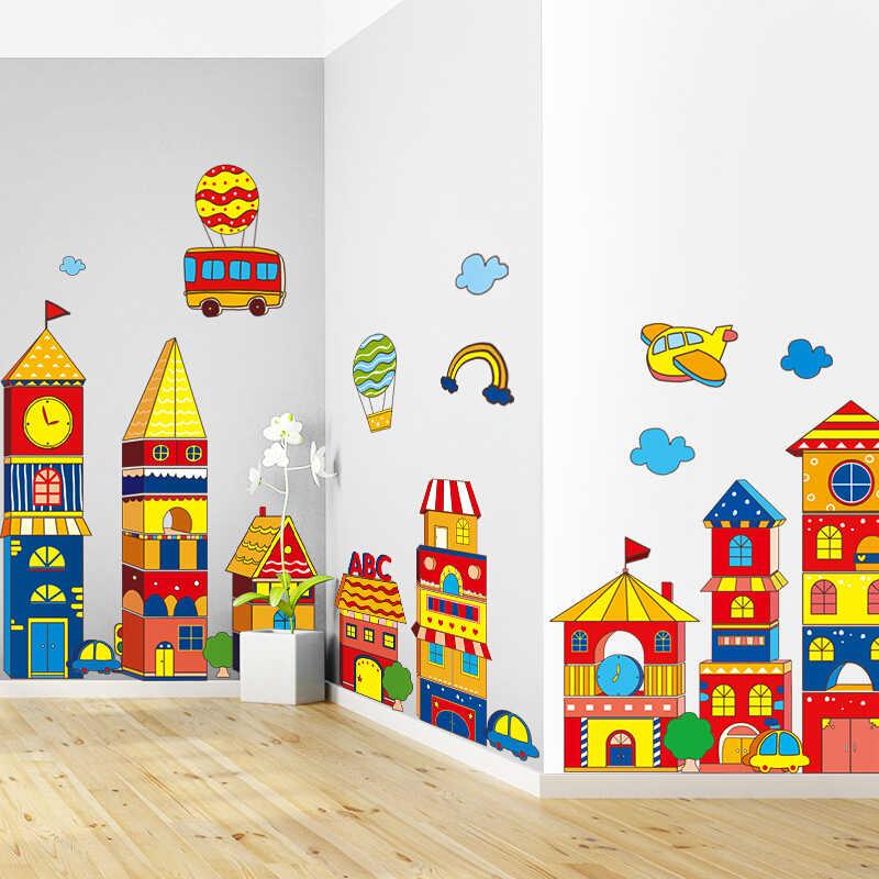Детская картинка на стену город