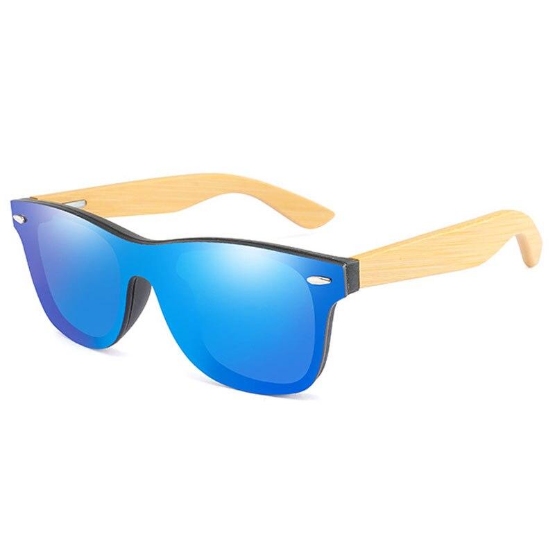 Винтаж бамбукового дерева рамы мужские женские солнцезащитные очки мода зеркальное покрытие Солнцезащитные очки оттенки очки UV400 Óculos de sol ...