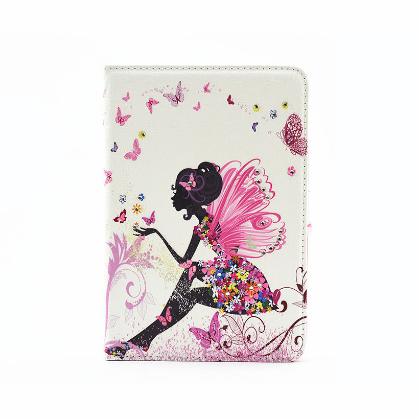 Tab S2 8.0 Inch Case Painted PU Leather Cover For Samsung Galaxy Tab S2 8.0 T710 T715 SM-T719 Tablet With Diamond Shell Funda