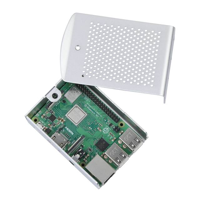 US $9 87 24% OFF|Latest Raspberry Pi 3 Model B Plus Aluminum Case Metal  Enclosure Hanging Bracket VESA Mounted also for RPI 3B+/RPI 3 -in Demo  Board