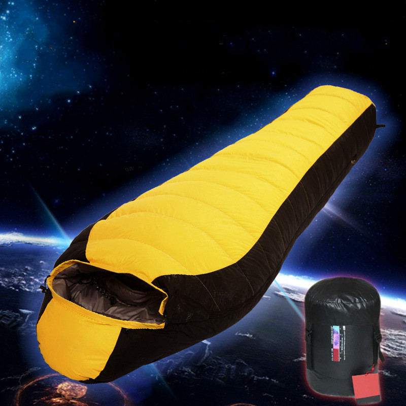 Outdoor type down sleeping bag four seasons adult mummy style camping camping light thick waterproof down sleeping bag adult down outdoor camping sleeping bag mummy model sleeping bag with waterproof nylon sleeping bag