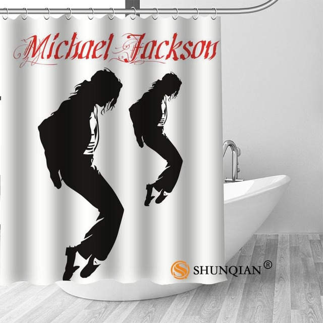 3 Michael jackson shower curtain washable thickened 5c64f7a44eda9