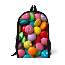 Color Candy Printing Backpack Children School Bags For Teenager Girls Backpacks Laptop 17 Inch Rugzak
