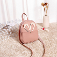 Women Mini Backpack Cartoon Cute Bunny Backpack Ladies Bags For Women 2019 Mobile Phone Girl Leather Backpacks Pouch Sport Bags
