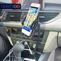 OHMYGO Sostenedor Del Montaje Del Teléfono Del Coche con el Cargador Dual USB Cargador de Coche soporte soportes para samsung xiaomi etc teléfonos móviles gps mp4 pds