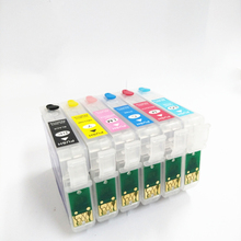 vilaxh T0791 Refillable Ink Cartridge For Epson Stylus Photo PX660 P50 PX650 PX700W PX710W PX720WD PX730WD 1500 1400 1410