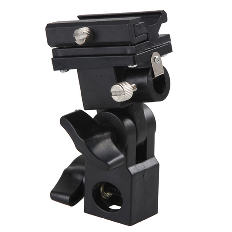 1pc B-Type Flash Hot Shoe Bracket Tripod Umbrella Holder Swivel Light Stand Adapter Bracket B