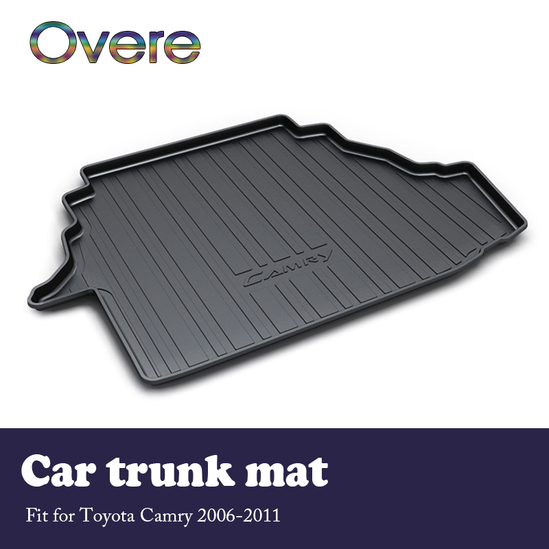 Overe 1Set Car Cargo rear trunk mat For Toyota Camry 2006 2007 2008 2009 2010 2011