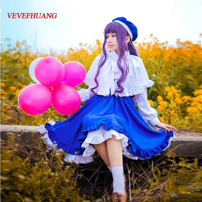 VEVEFHUANG chaud Anime carte Captor Sakura Tomoyo Cosplay Costume Lolita robe ensemble complet unisexe pour noël