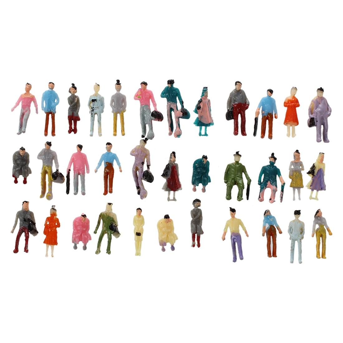 100pcs Painted Model Train Passenger People Figures Scale 1:150