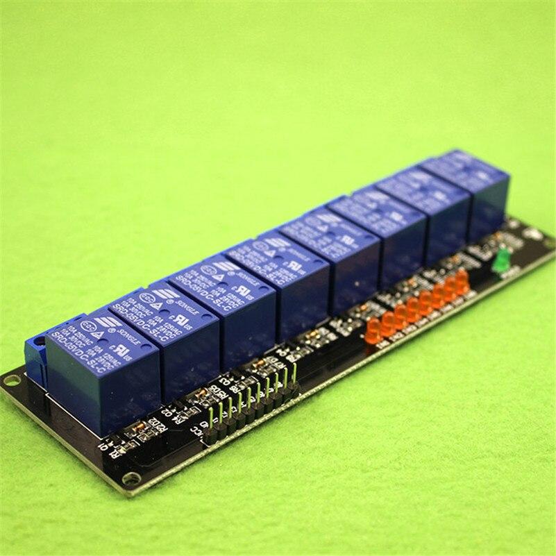 8 дорожно-реле Плата расширения 5 В модуль реле один микрокомпьютер чип разработка (d2b1)