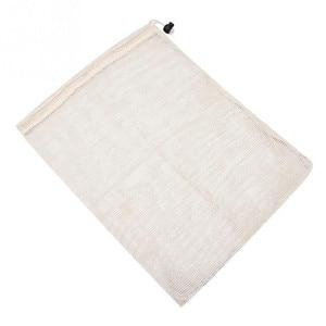 Image 5 - Wielokrotnego użytku z bawełny organicznej warzyw torba z siatki dla mężczyzn kobiety w domu kuchni zmywalny owoce spożywczy sznurek zakupy torby do przechowywania
