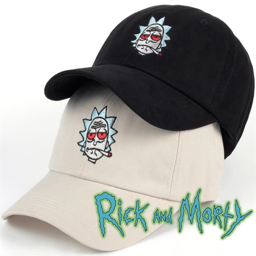 Animation Cosplay Costumes Rick And Morty Cap Adlut Unisex Adjustable Baseball Caps Adult Hat Stoned Rick Smoking Xmas Gifts