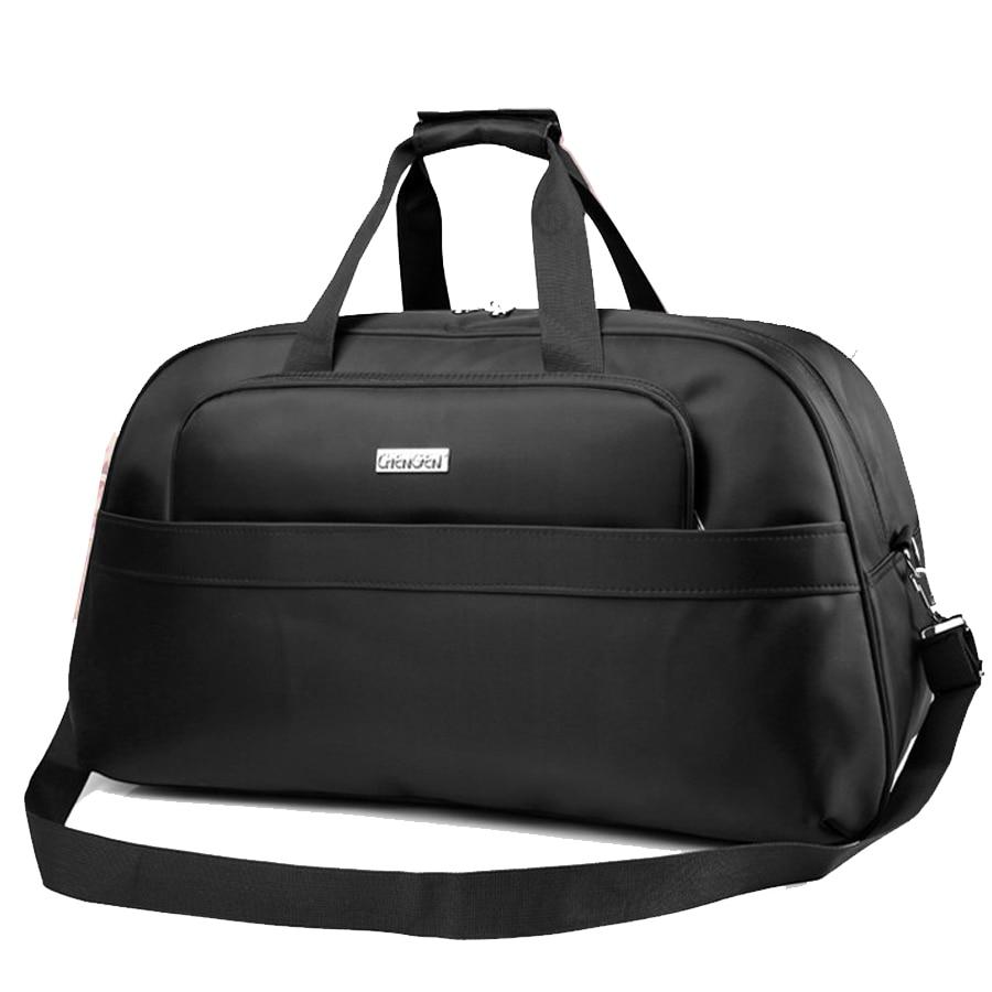 Women Travel Bags 45L Fashion Waterproof nylon Large Capacity hand Luggage Duffle Bag black men travel bag big цена 2017