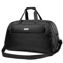Купить с кэшбэком Women Travel Bags 45L Fashion Waterproof nylon Large Capacity hand Luggage Duffle Bag black men travel bag big