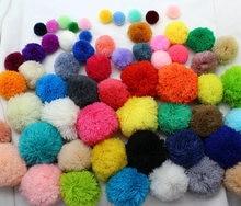 100pcs loose Yarn Pom Poms 15mm-60mm beads,balls,flower pompom, Mixed color Fluffy Balls Designer Jewelry Charm Sandal diy