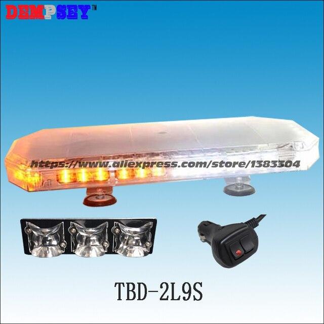 TBD-2L9S светодиодный аварийного Предупреждение мини lightbar, желтый/белый светодиодный свет баров DC12V-24V грузовик/спасения стробоскоп мигает Пре...
