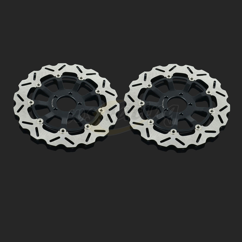 320MM Motorcycle Front Wavy Floating Brake Disc Rotor For KAWASAKI ZX7R 96-03 ZX7RR ZXR750L ZXR750R ZX9R ZZR1100 ZX12R ZZR1200 цены онлайн