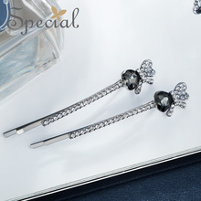 The SPECIAL New Fashion euramerican bowknot side clip hair accessories hairpins for women, S1845H
