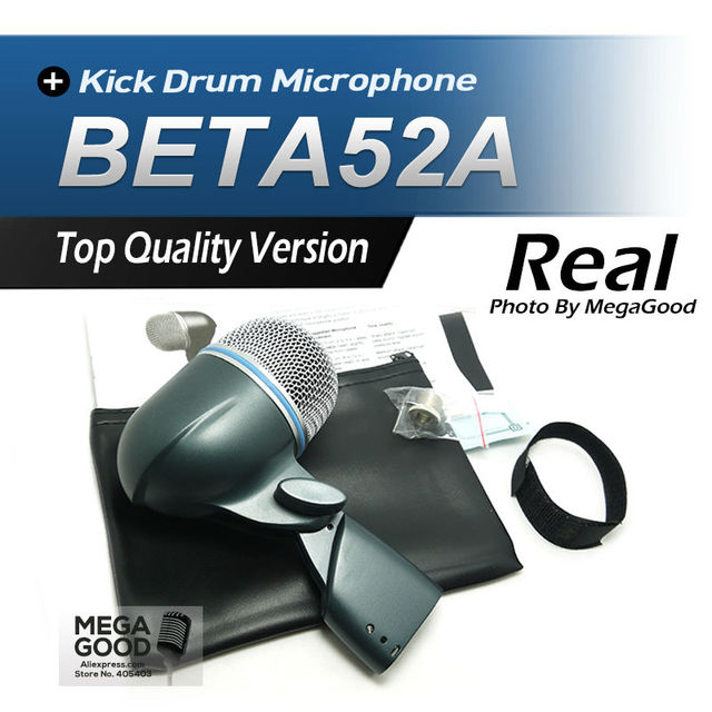 Free Shipping!! BETA52 Kick Drum Bass Instrument Microphone Professional BETA Sound System For Stage Show Studio 52A New Boxed!!