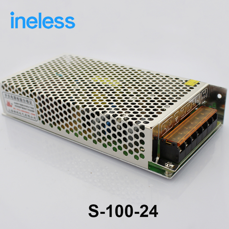 S-100-24 Single Output Switching Power Supply Power Suply Unit AC to DC Power Supply AC DC Converter 100W 24V 4.5A  high quality single output switching power supply power suply unit 350w 48v 7 3a ac to dc power supply ac dc converter s 350 48