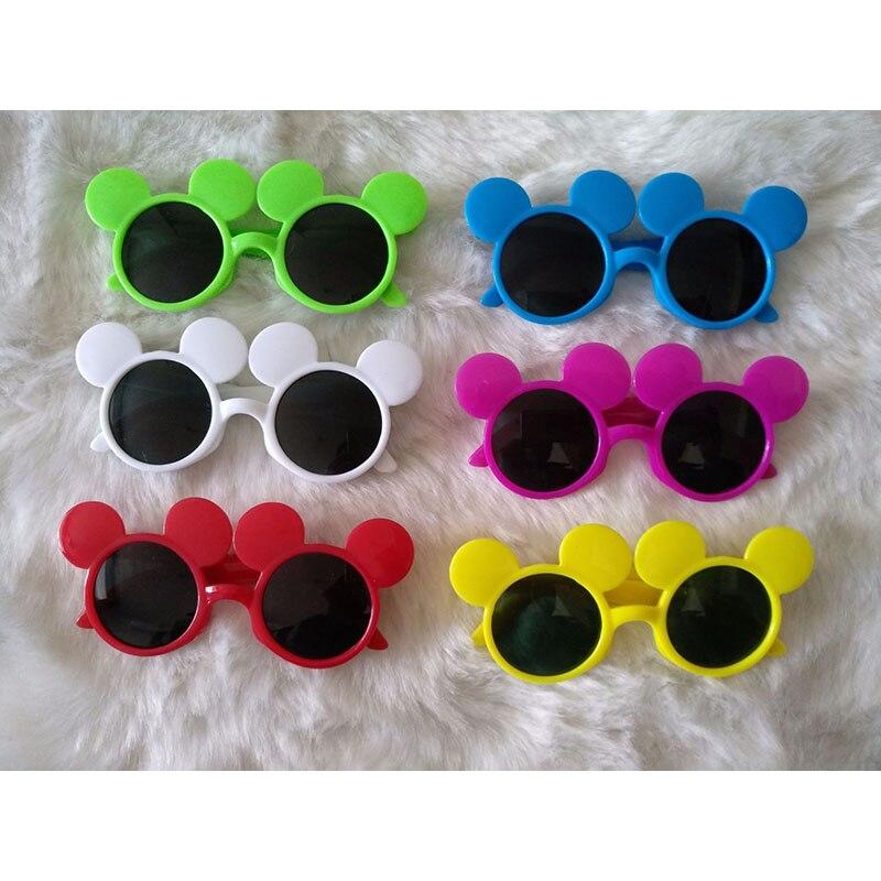 Retro Little Cute Round Frame Mouse Sunglasses Children Kids Uv400 Red Blue Lens Mirror Sun Glasses Boys Girls C9129-30 Easy And Simple To Handle Men's Glasses