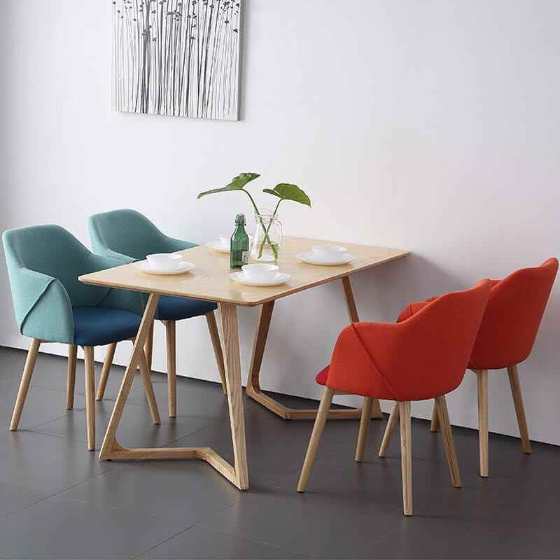 U-BEST Nordic style Home Furniture Dining Set wood dining table,modern simple solid wood dining table and chairs
